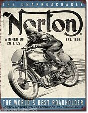 Large Vintage Style Retro NORTON Motorcycle Metal Wall Sign  Biker Gift  1706