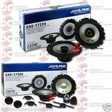 "BRAND NEW ALPINE PACKAGE 6.5"" 2-WAY CAR COMPONENT SPEAKERS + 6.5"" 2-WAY SPEAKERS"