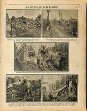 Bataille de l'Aisne Poilus Vauxrot Brancardiers Château de Cuffies  1917 WWI