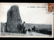 QUIBERON (56) BERGER avec CHIEN & MOUTONS au MENHIR de MANEMEUR en 1929
