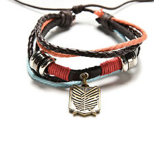 Leather Bracelet Shingeki no Kyojin 1PC Unisex Anime Attack On Titan Cosplay WB