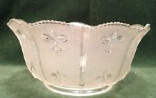 """Vintage Fleur de lis pattern gas lamp shade with 4"""" fitter-clear and pebbled"""