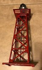 """Lionel Trains Metal 394 Red Rotary Aircraft Beacon Light Tower 12.5"""" H Untested"""