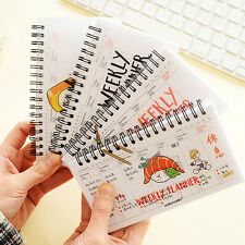 NEW Weekly Plan Schedule Spiral Coil Notebook Sketchbook Planner Easy to Use