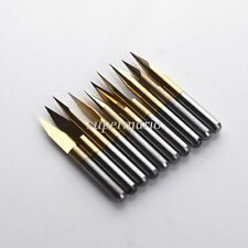 10x Titanium Coated Carbide PCB Engraving CNC Bit Router Tool 30 Degree 0.2mm