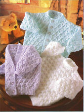 Nice diamond patterned sweater & cardigans knitting pattern- chest 16-22 in DK