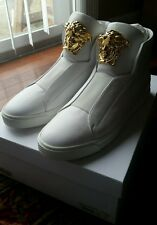 Versace Palazzo Slip-On Sneakers high top white gold us 9 10 eu 42 arena 750 350