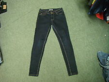 "Dorothy Perkins Slim Leg Jeans Size 12R Leg 32"" Faded Dark Blue Ladies Jeans"