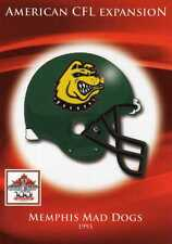 MEMPHIS MAD DOGS CFL GREY CUP 100TH ANNIVERSARY EXPLANSION CFL HELMET LOGO
