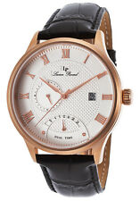 Lucien Piccard Volos Retrograde Dual Time Mens Watch 10339-RG-02S