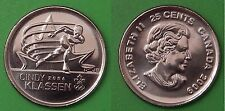 2009 Canada Cindy Klassen 25 Cents Special NonColorful Issue From Mint Roll