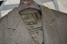 $2595 Ermenegildo Zegna Cashmere Coat Jacket XL 54 ITALY Brown