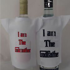 Bottle / miniture T-Shirt set for Godmother & Godfather ideal fun gift