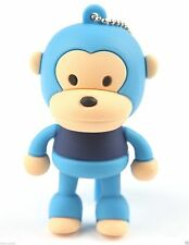 8GB Baby Monkey Silicon USB 2.0 Flash Memory Drive Disk Stick Shockproof BLUE
