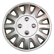 TopTech Motion 16 Inch Boxed Wheel Trim Set of 4 Silver Hub Caps Covers