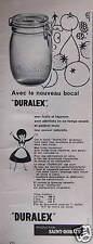 PUBLICITÉ BOCAL DURALEX ST GOBAIN POUR FRUITS ET LÉGUMES - ADVERTISING
