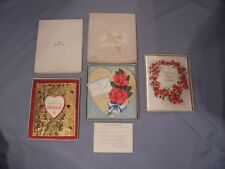 Vtg Valentine Cards Lot 3  Hallmark Husband Wife Sweatheart  Rust Crafts Boxes
