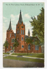 1909 REEDSBURG WI ST PETER LUTH CHURCH POSTCARD PC3045