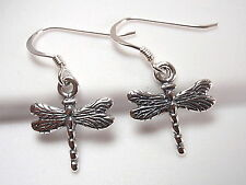 Small Dragonfly Earrings 925 Sterling Silver Dangle Corona Sun Jewelry