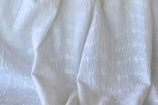 """Embroidered Eyelet Crinkled White Bubble Gauze 100% Cotton 48"""" Wide Fabric BTY"""