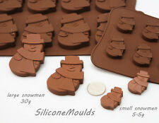 12 cell Small Snowman 5.5g Chocolate Candy Silicone Bakeware Mould Cookie Soap