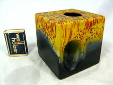 "Unusual 70´s design Keramik pottery "" cube "" Vase with integrated handle 183 / 9"