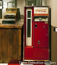 Vintage Cash Register and Coca Cola Machine - Giclee Photo Print