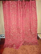 CROSCILL BELLISSIMA RED GOLD PAISLEY MEDALLION FABRIC SHOWER CURTAIN 70 x 73