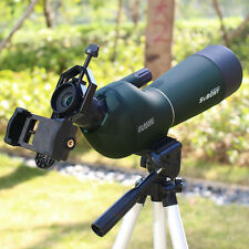 Hot Waterproof Angled 20-60x60mm Zoom Spotting Scope+Cell Phone Adapter New