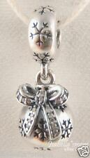 CHRISTMAS ORNAMENT Authentic PANDORA Silver/CLEAR CZ STONES Holiday DANGLE Charm