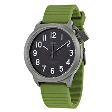 Vestal Canteen Black Dial Green Rubber Mens Watch CTR3S03