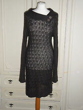 Women's Winter Knitting Jumper Dress Ladies Wrap Hip Sweater Size L