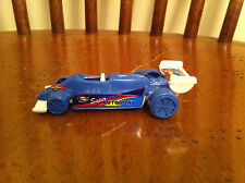vintage Super Autoboat Racing toy racecar Race car Blue Plastic Collectible old
