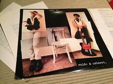 "WOM A2 - RUIDO Y CABARET 12"" LP SPAIN POWER POP POST PUNK + RADIO PRESS SHEETS"