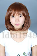 Undertale Women's Short Brown Cosplay Bob Wig Halloween Costume frisk chara Hair