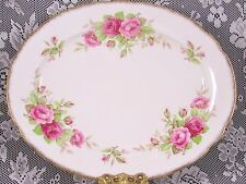 PARAGON ROSEBUD PATTERN PINK ROSE 12 INCH SERVING PLATTER