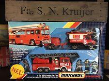 Matchbox Super Kings k-119a-1. producto escaso Fire set Mint OVP excellent 1985