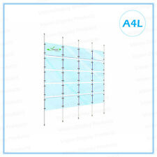 Window Display, Acrylic Cable Kits System, Signage for Real Estate,20xA4L