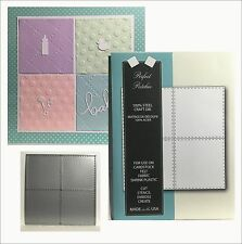 Quilt dies PERFECT PATCHES Memory Box 99169 stitched squares metal cutting die