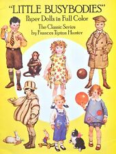 The Busybodies Paper Doll Book by Frances Hunter, 1988, Uncut 6 Pgs of Clothes