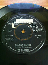 "THE BEATLES 45 DPE 172 TELL ME WHY BLACK RARE SINGLE 7"" 45 RPM INDIA INDIAN VG+"
