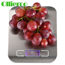 Ollieroo 11LBS Compact Digital Kitchen Scale Diet Food Postal Mailing