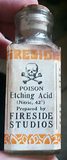 ******L@@K EARLY CORKTOP LABELED POISON SKULL & CROSSBONES ETCHING NITRIC ACID