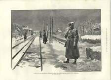 1894 Russian Military Guarding Railway Line Moscow St Petersburg