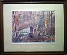 Rod Staples - Buttermilk Falls (Haliburton, Ont.) - S/N  Serigraph