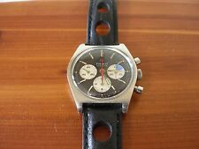 Tissot Seastar Chronograph Reverse Panda Dial Stainless Steel, Vintage, Serviced