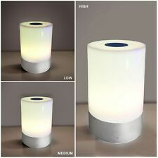 Touch Sensor Bedside Table Lamp + Color Changing RGB Dimmable Warm White Light