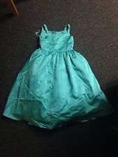 David's Bridal All Over Satin Tea-Length Ball Gown #H1227 Size 6&7 Mermaid Color