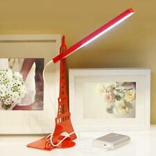 LED Portable Eye Protection Dimming USB Charging Touch Paris Simple Tower Lamp