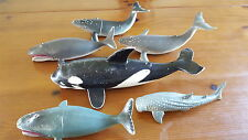 Lot of Whale Figures Orca Humpback 7 - 12 inches 1990s Imperial Etc
